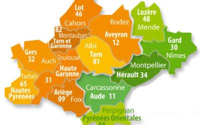 Bienvenue en Occitanie née de la fusion 2015 Languedoc-Roussillon/ Midi-Pyrénées