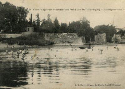 La baignade des colons