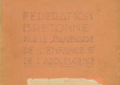 Fédération bretonne pour la sauvegarde de l'enfance et de l'adolescence : registre 1944-1957