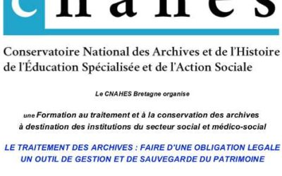 Formation au traitement & conservation archives 28/04 & 28/05